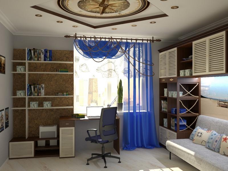 в морском стиле дизайн комната в