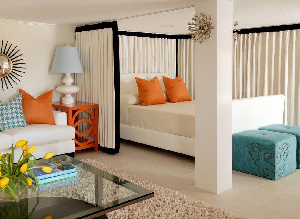Дизайн гостиная спальня детская
